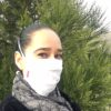 Lipoelastic fehér színű szájmaszk felvéve