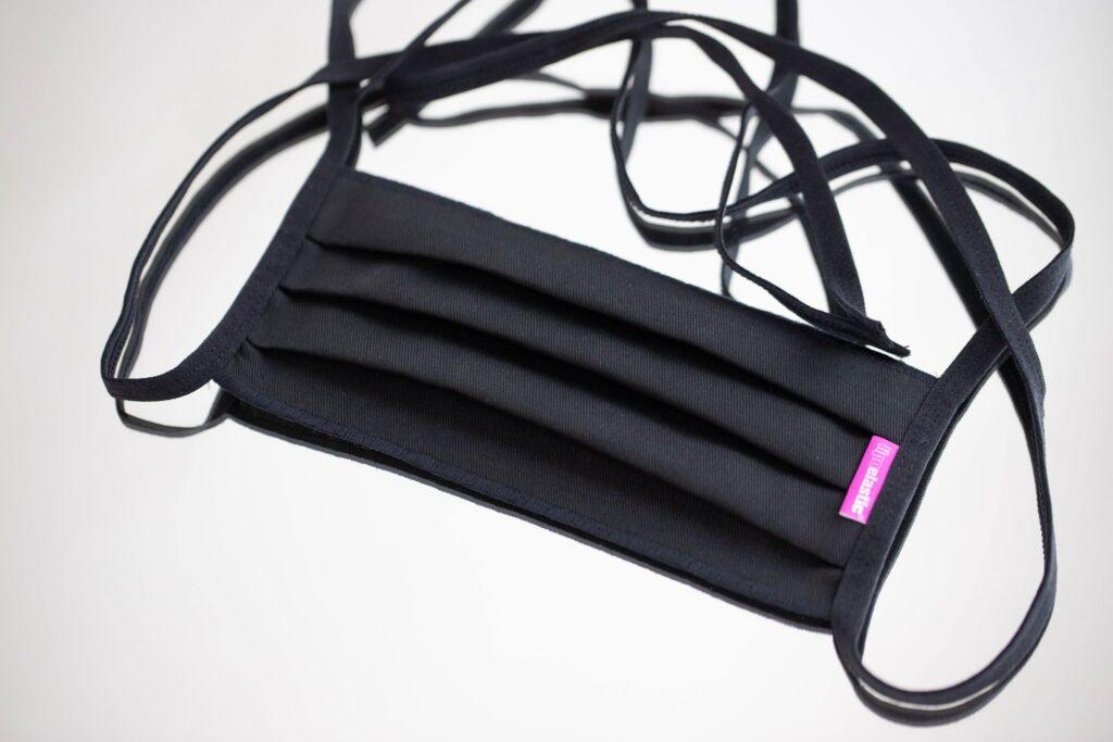 Szájmaszk- fekete színű Lipoelastic textil szájmaszk